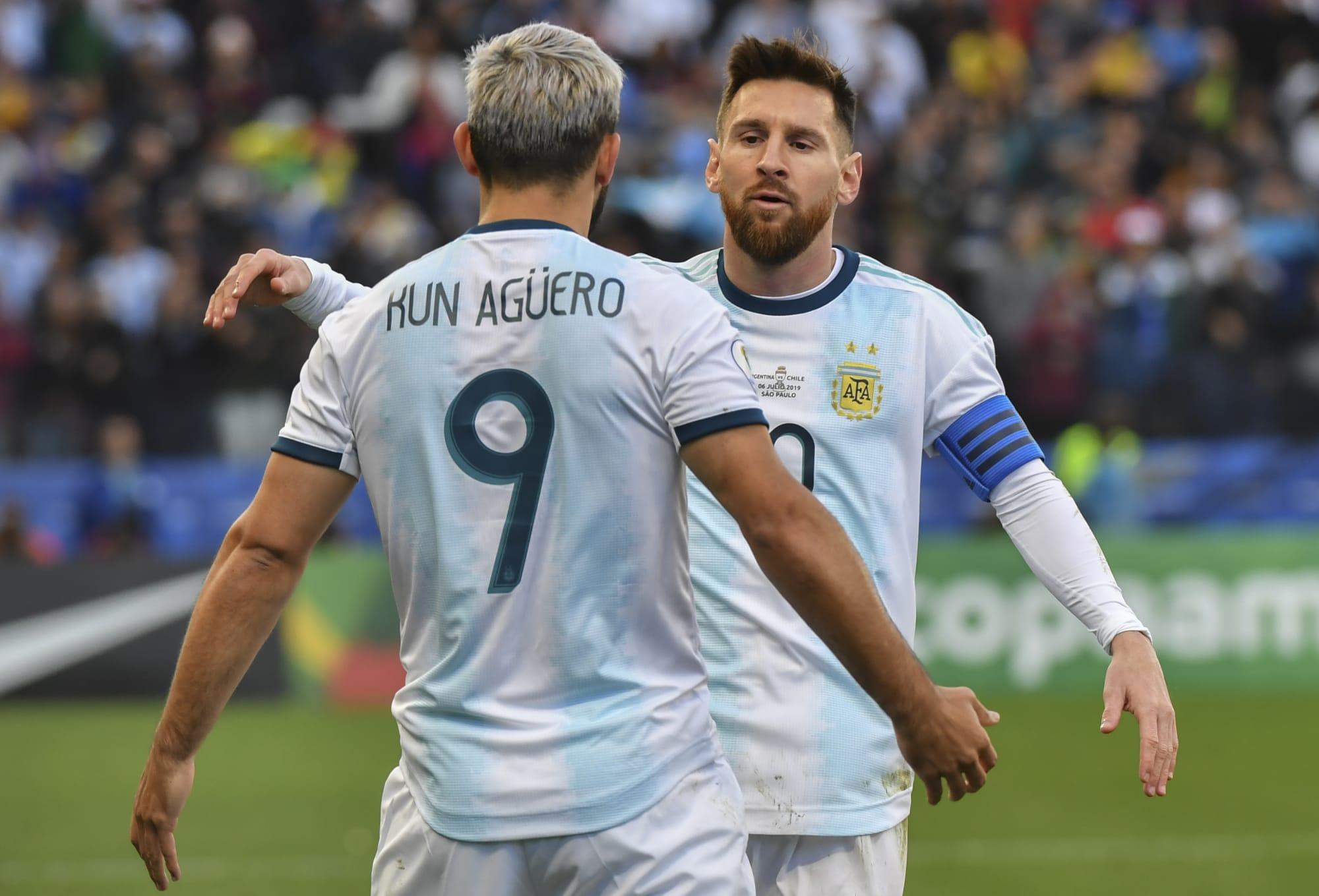 Sergio Aguero na Lionel Messi